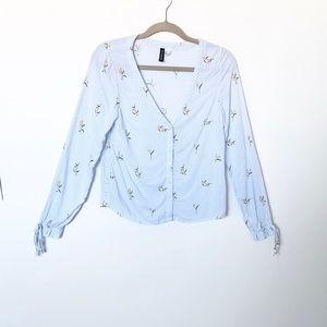 H&M Floral Blouse Shirt